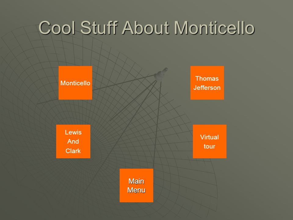 Monticello Thomas Jefferson Lewis And Clark Cool Stuff About Monticello Virtual tour Main Menu