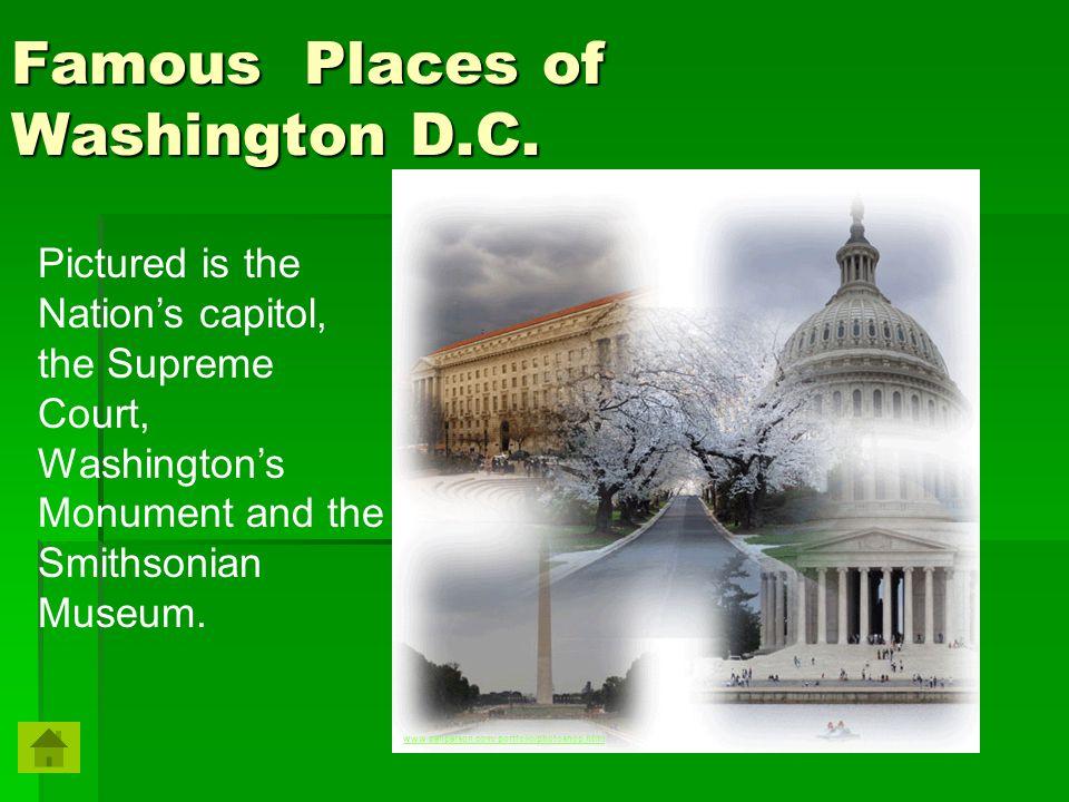 Famous Places of Washington D.C.
