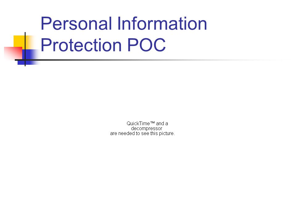 Personal Information Protection POC