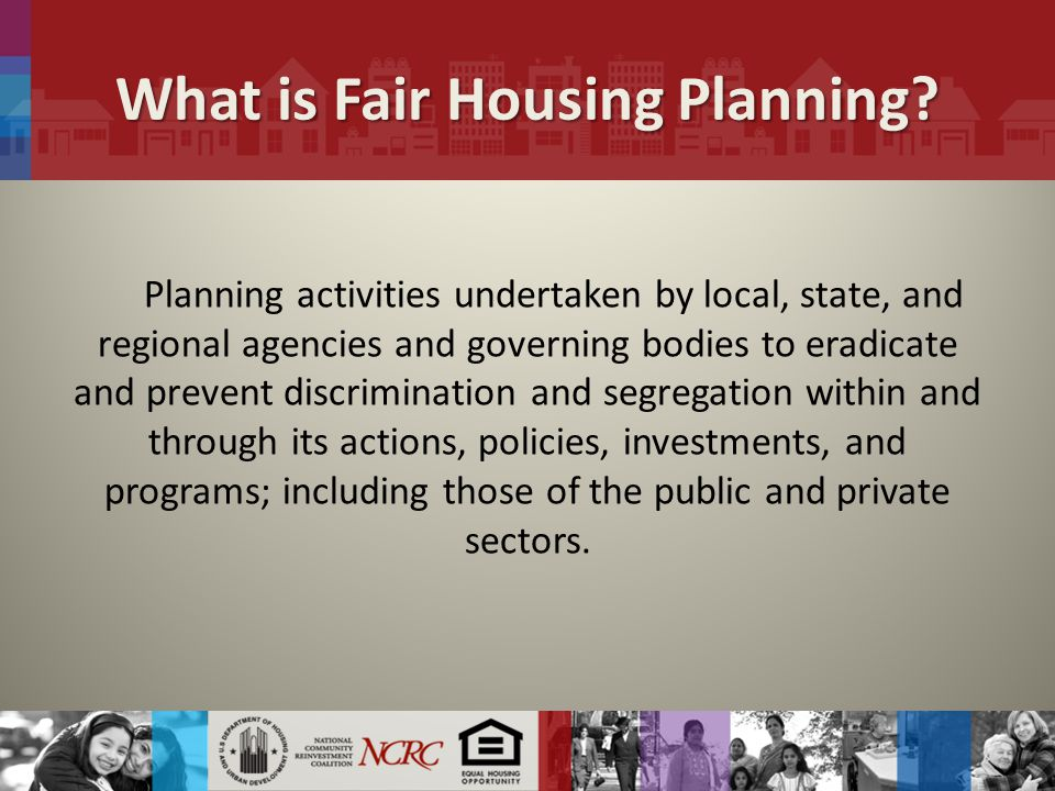 What is Fair Housing Planning.