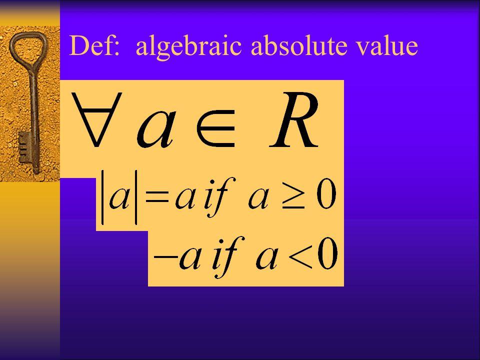 Def: algebraic absolute value