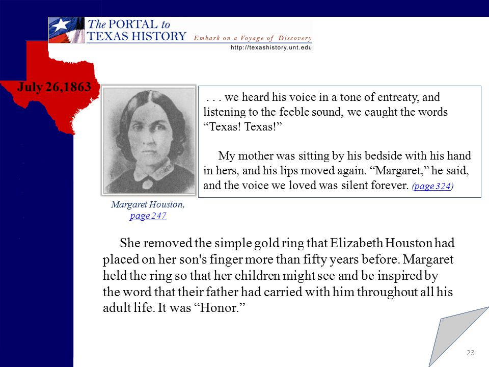 23 page.247 July 26,1863 Margaret Houston, page 247 page 247...