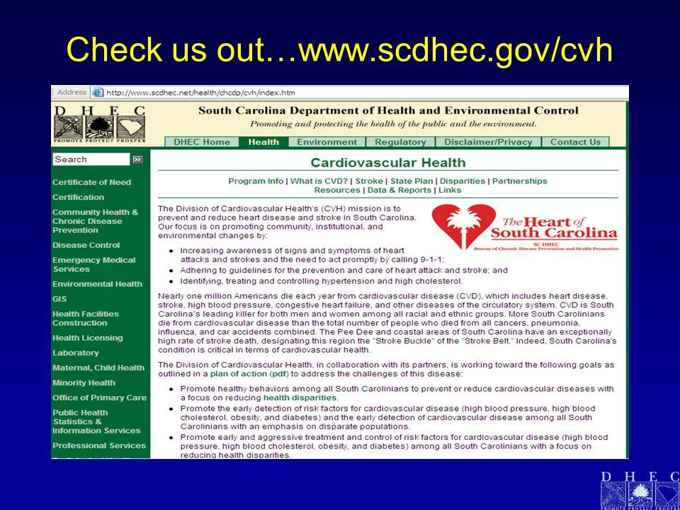 Check us out…www.scdhec.gov/cvh