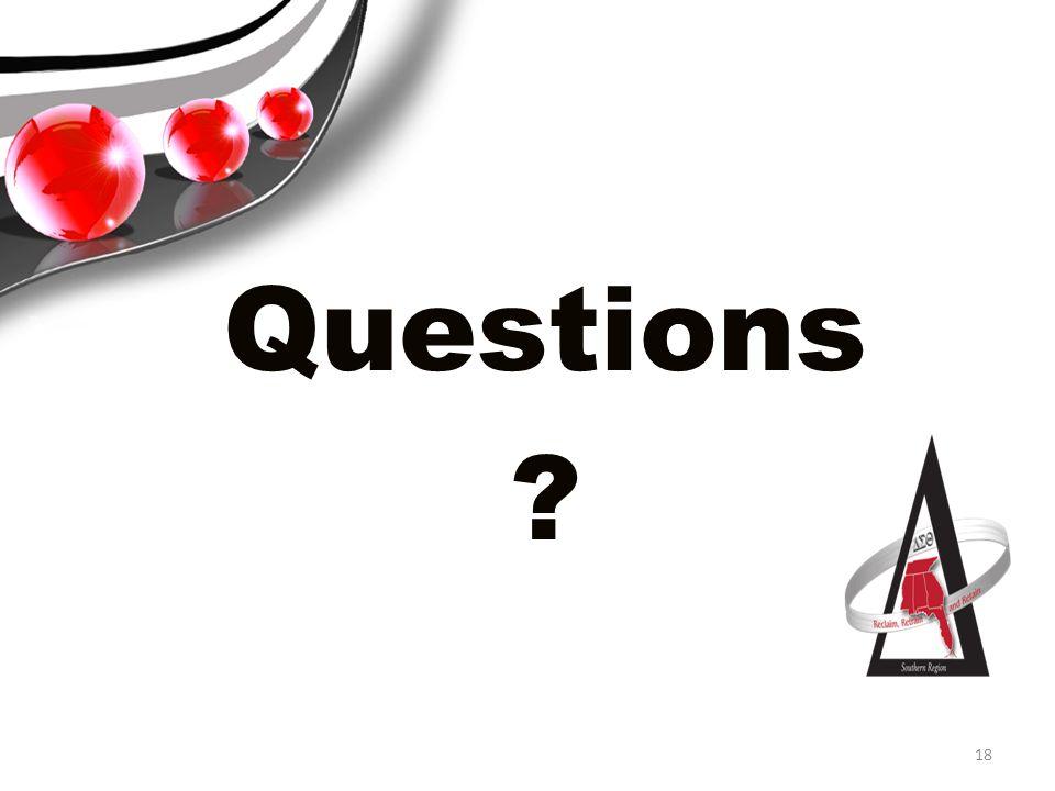 Questions ? 18