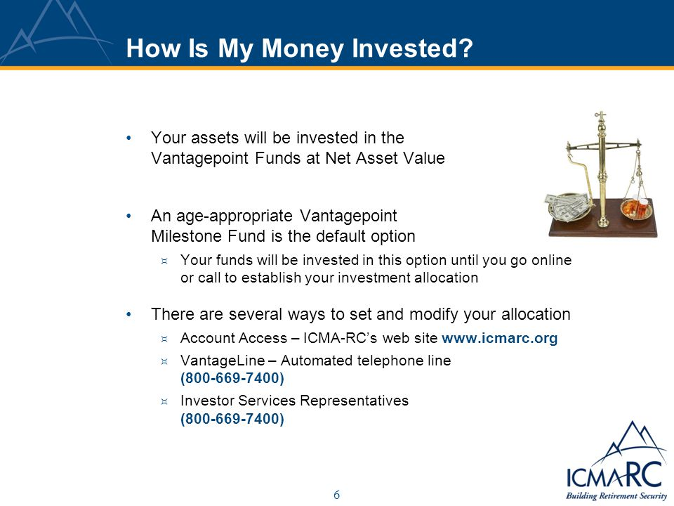 7 What are my Investment Options.