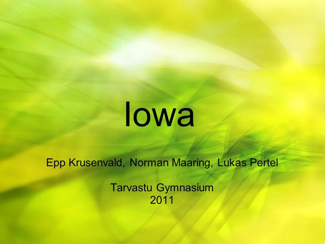 Iowa Epp Krusenvald, Norman Maaring, Lukas Pertel Tarvastu Gymnasium 2011