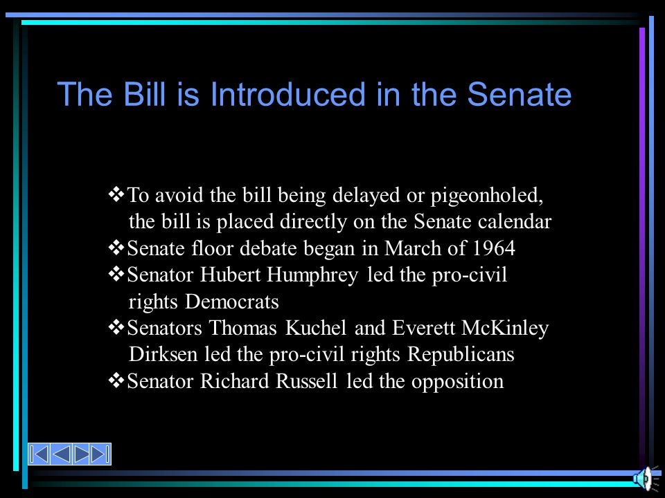  H.R. 7152 passed February 10, 1964  420 members voted ~ 290 support 130 opposed  Republicans favored the bill 138 to 34  Democrats favored the bi