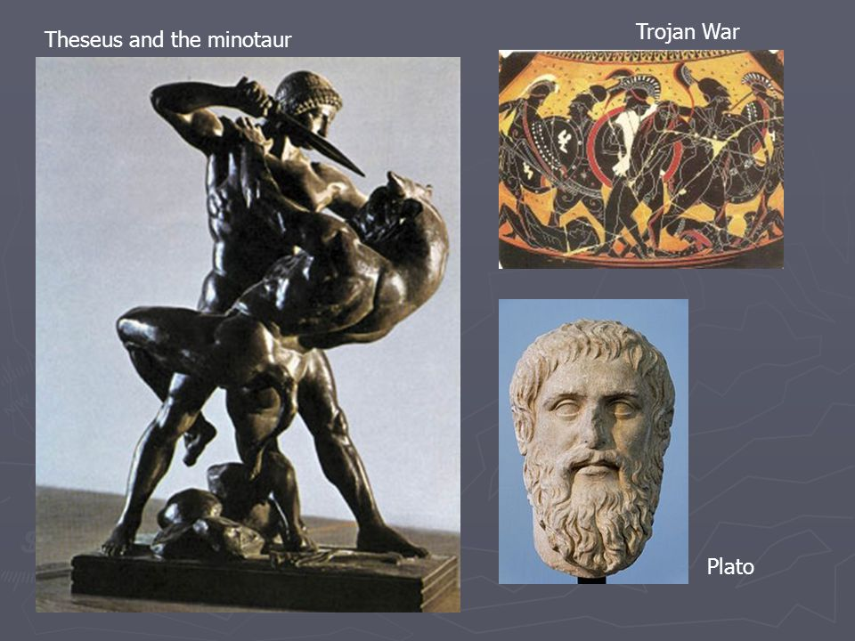 Theseus and the minotaur Plato Trojan War