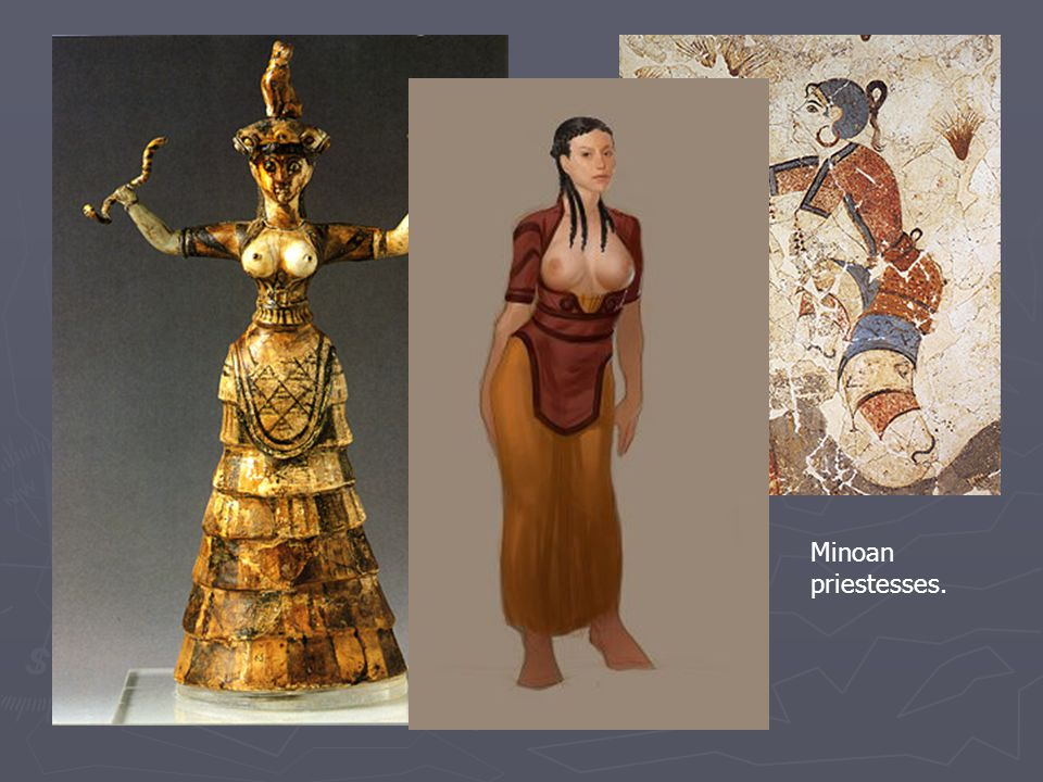 Minoan priestesses.