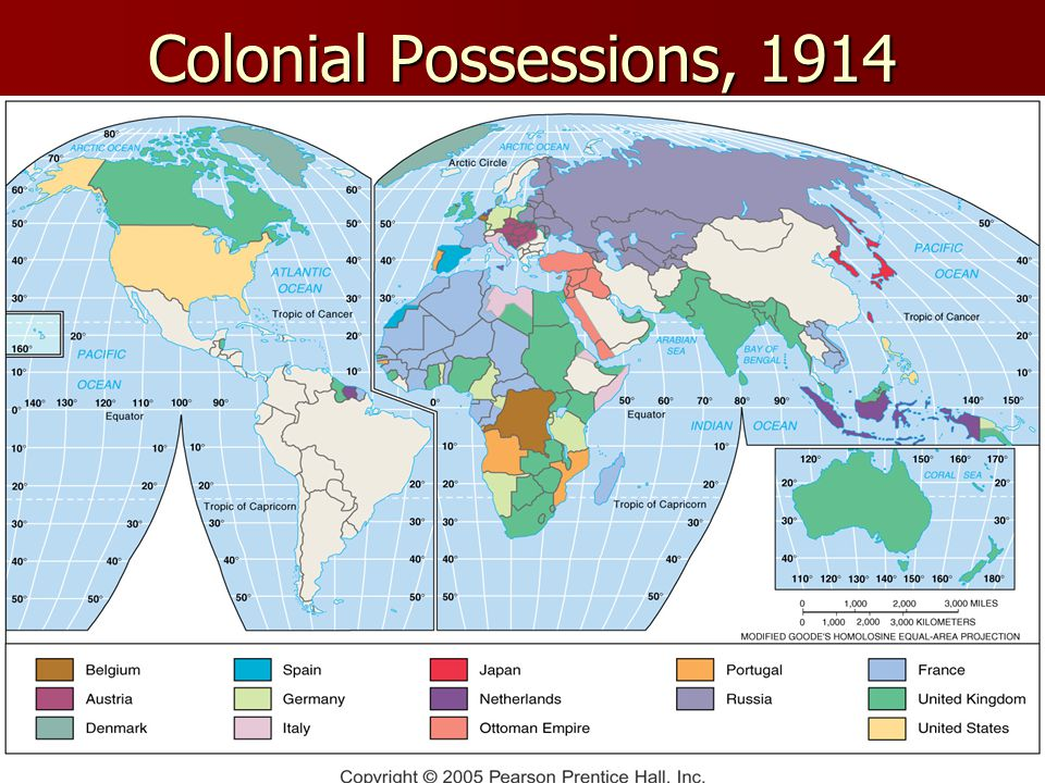 Colonial Possessions, 1914 Fig.