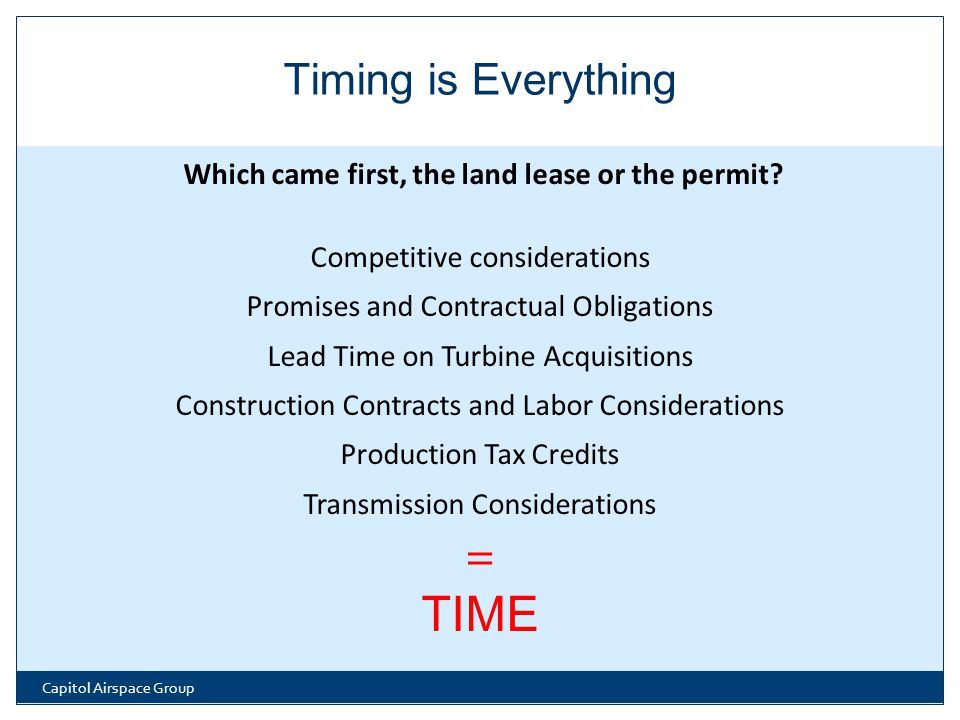 Which came first, the land lease or the permit.