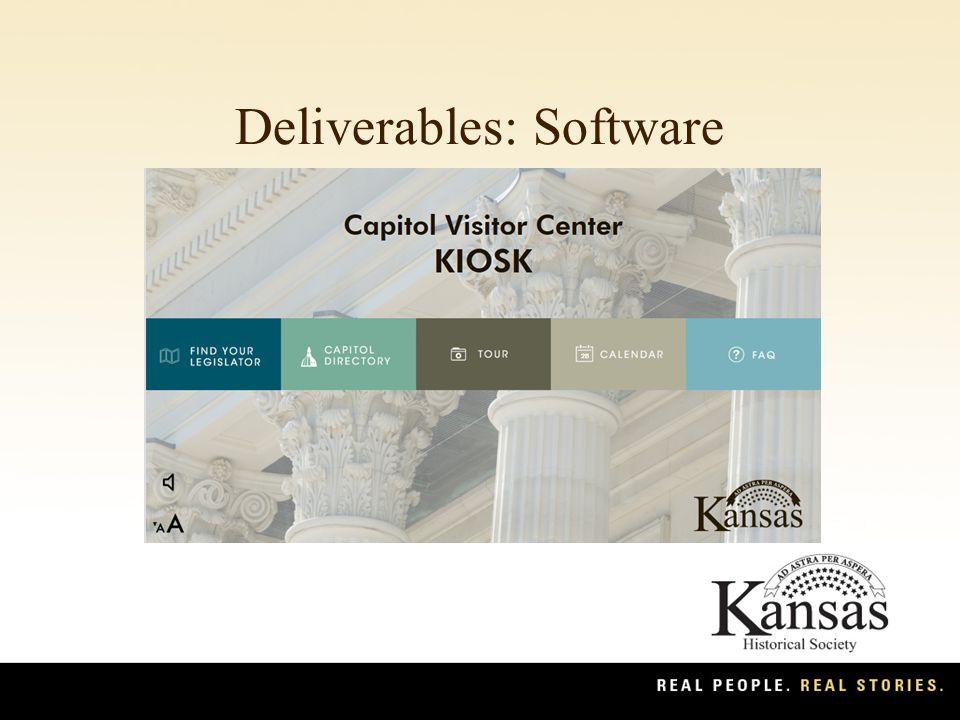 Deliverables: Software