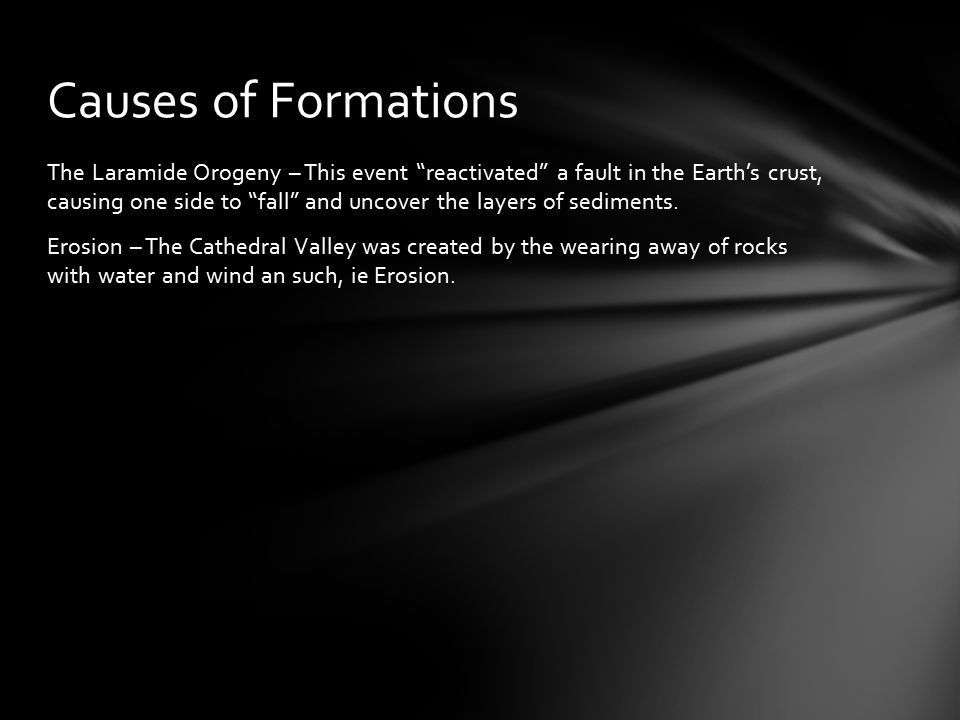 The forces that shaped all of Capitol Reef, are identical to those that formed the specific formations.