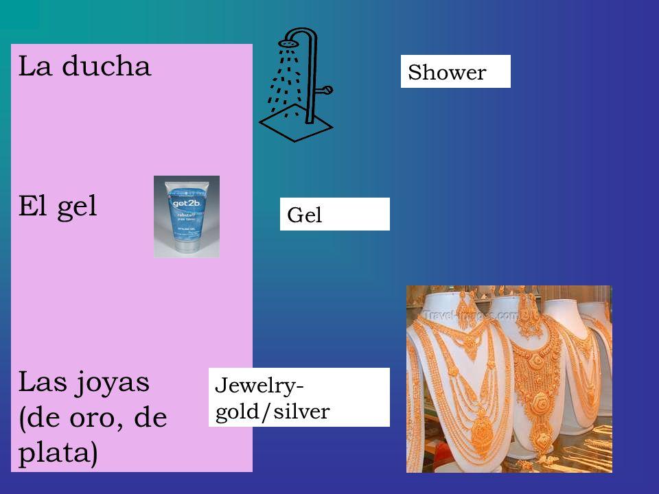 La ducha El gel Las joyas (de oro, de plata) Shower Gel Jewelry- gold/silver