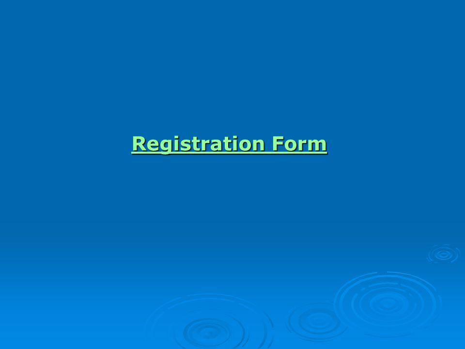 Registration Form Registration Form