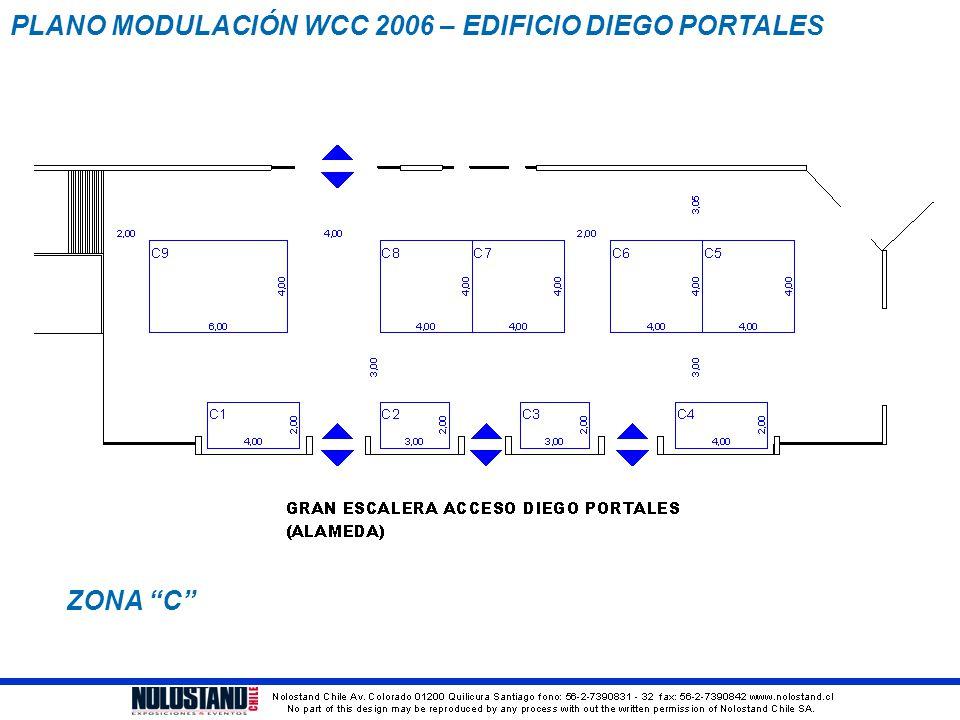 "PLANO MODULACIÓN WCC 2006 – EDIFICIO DIEGO PORTALES ZONA ""C"""
