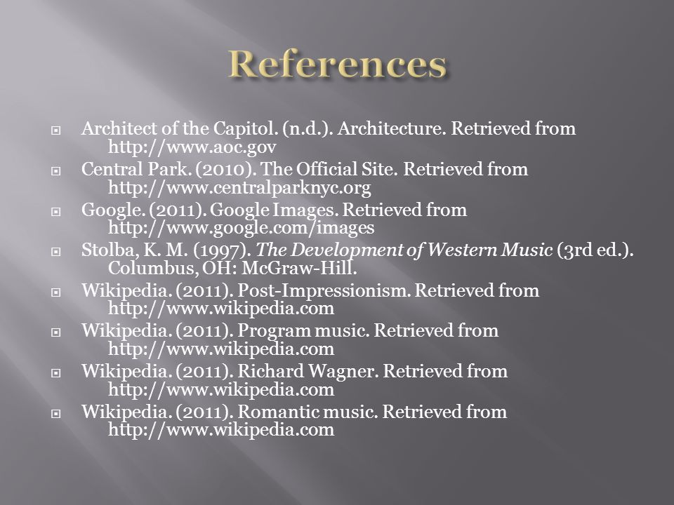  Architect of the Capitol. (n.d.). Architecture.