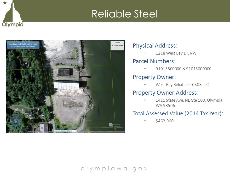 Physical Address: 1218 West Bay Dr.