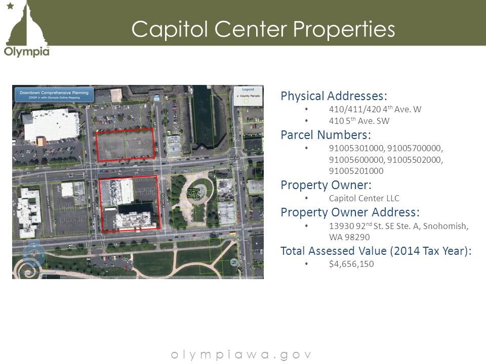 City Owned Properties – Fill Map olympiawa.gov