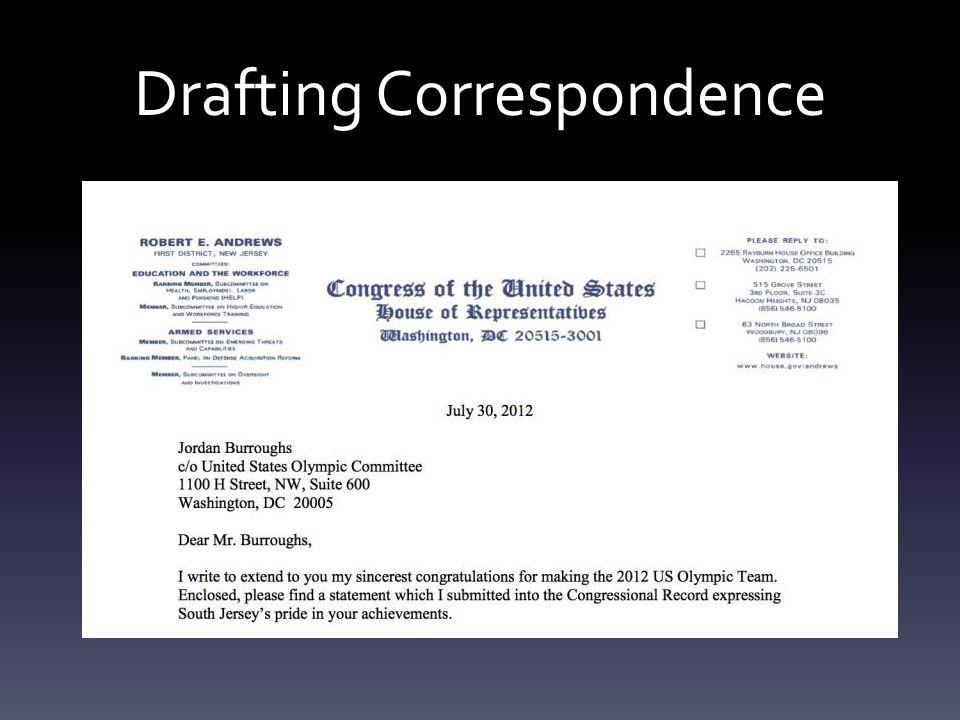 Drafting Correspondence