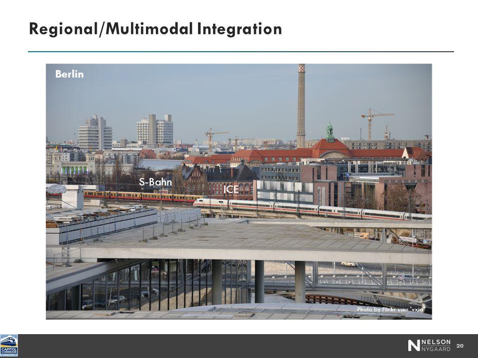 Regional/Multimodal Integration 20 S-Bahn ICE Berlin Photo by Flickr user vxia