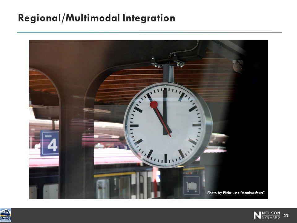 Regional/Multimodal Integration 23 Photo by Flickr user matthiasfeusi
