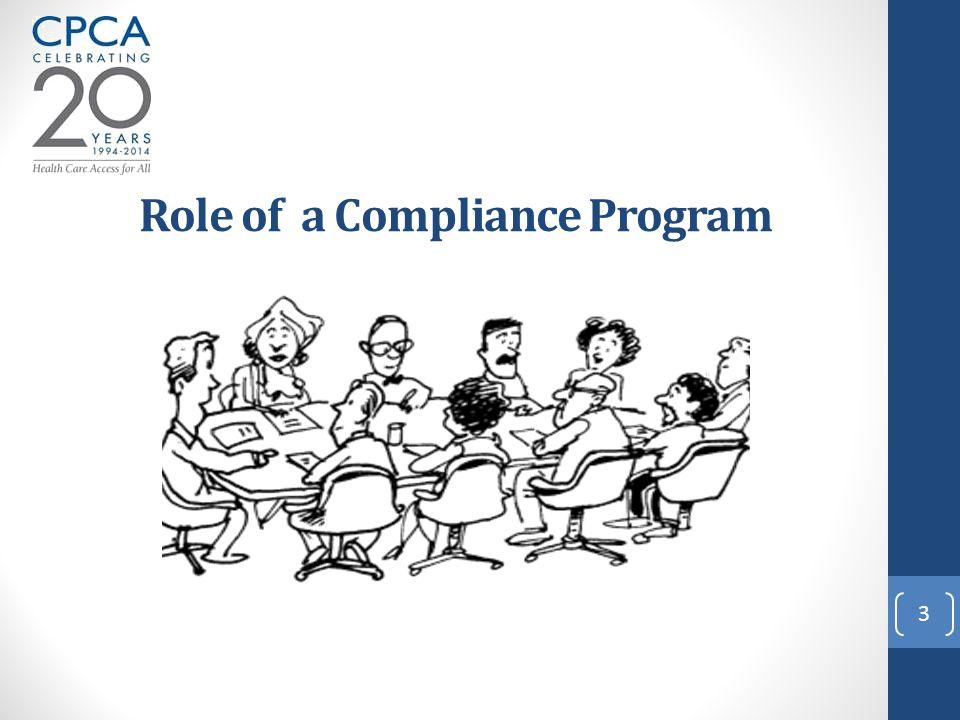 3 Role of a Compliance Program