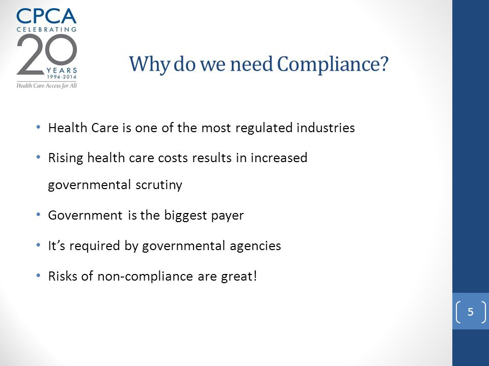 Why do we need Compliance.