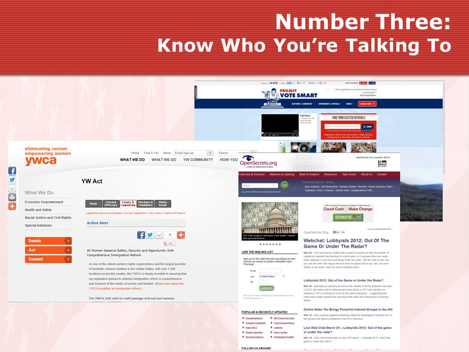 Number Three: Know Who You're Talking To