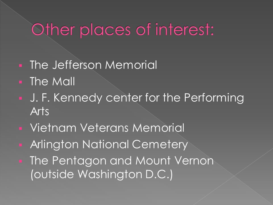  The Jefferson Memorial  The Mall  J. F.