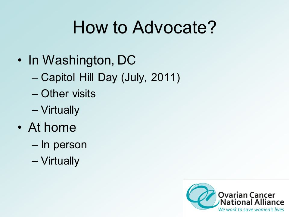 How to Advocate.