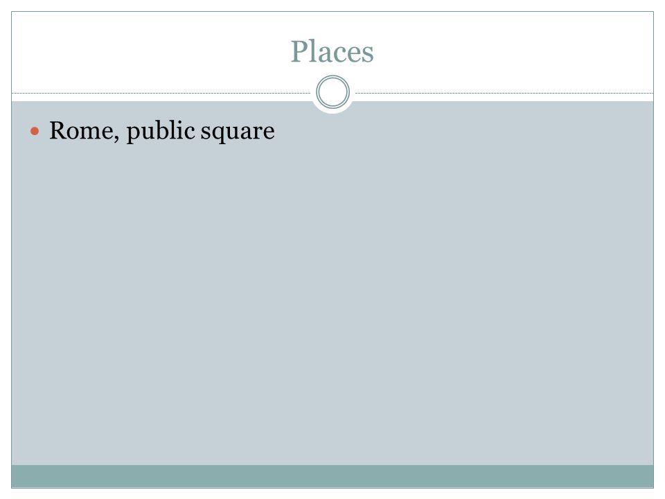 Places Rome, public square