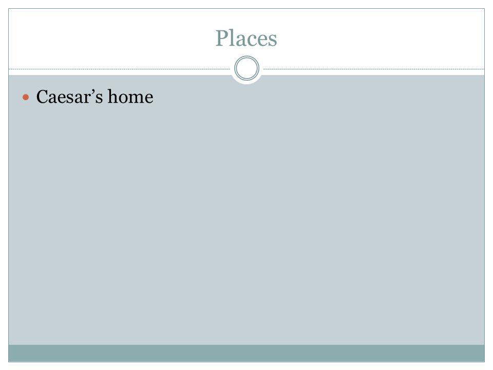 Places Caesar's home