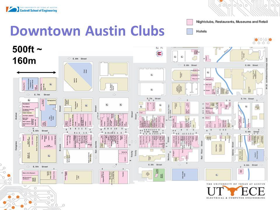 Downtown Austin Clubs 500ft ~ 160m
