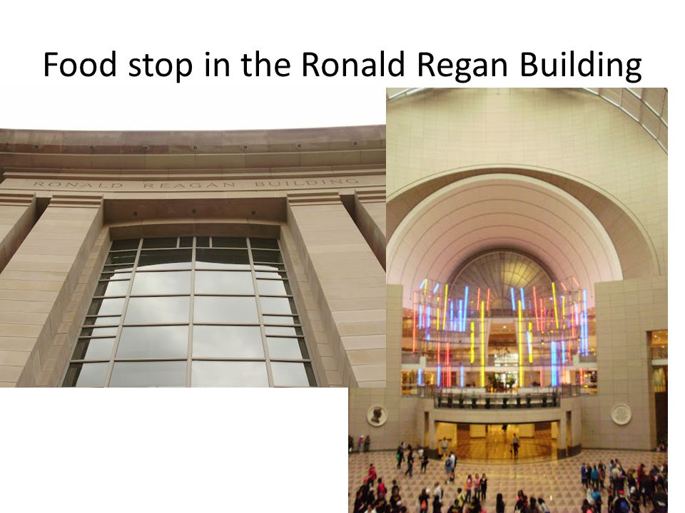 Food stop in the Ronald Regan Building