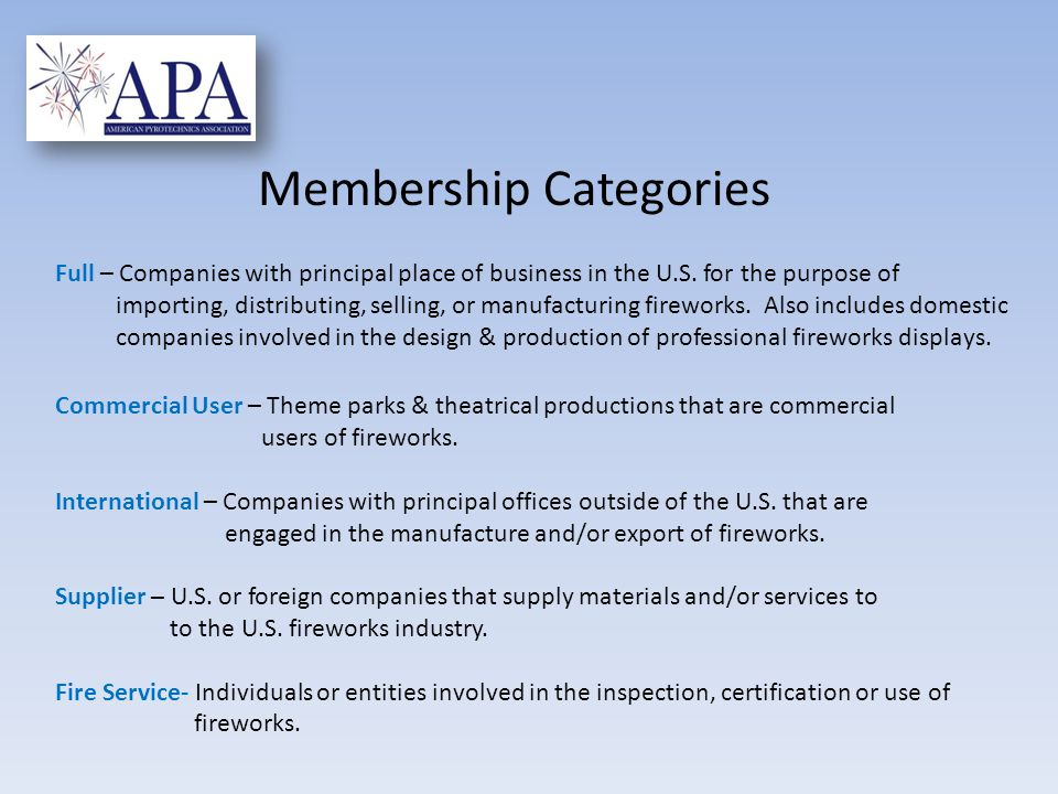 Full – Companies with principal place of business in the U.S.