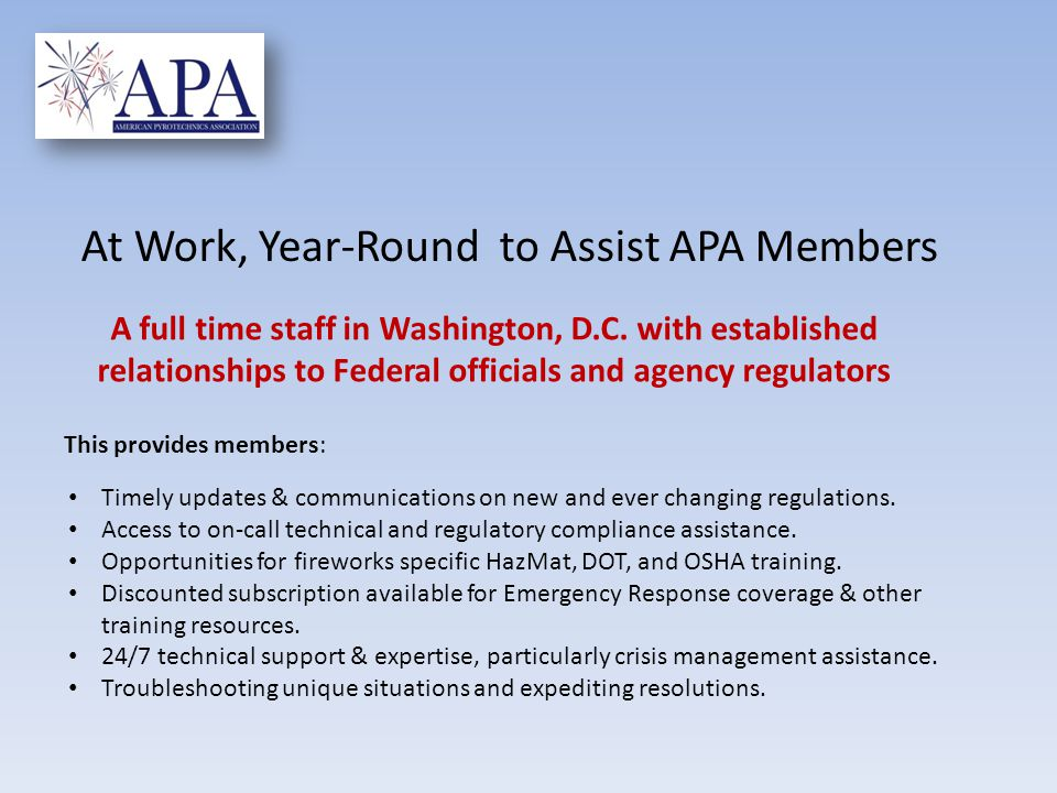 Timely updates & communications on new and ever changing regulations. Access to on-call technical and regulatory compliance assistance. Opportunities