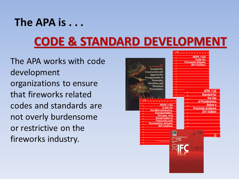 The APA is...