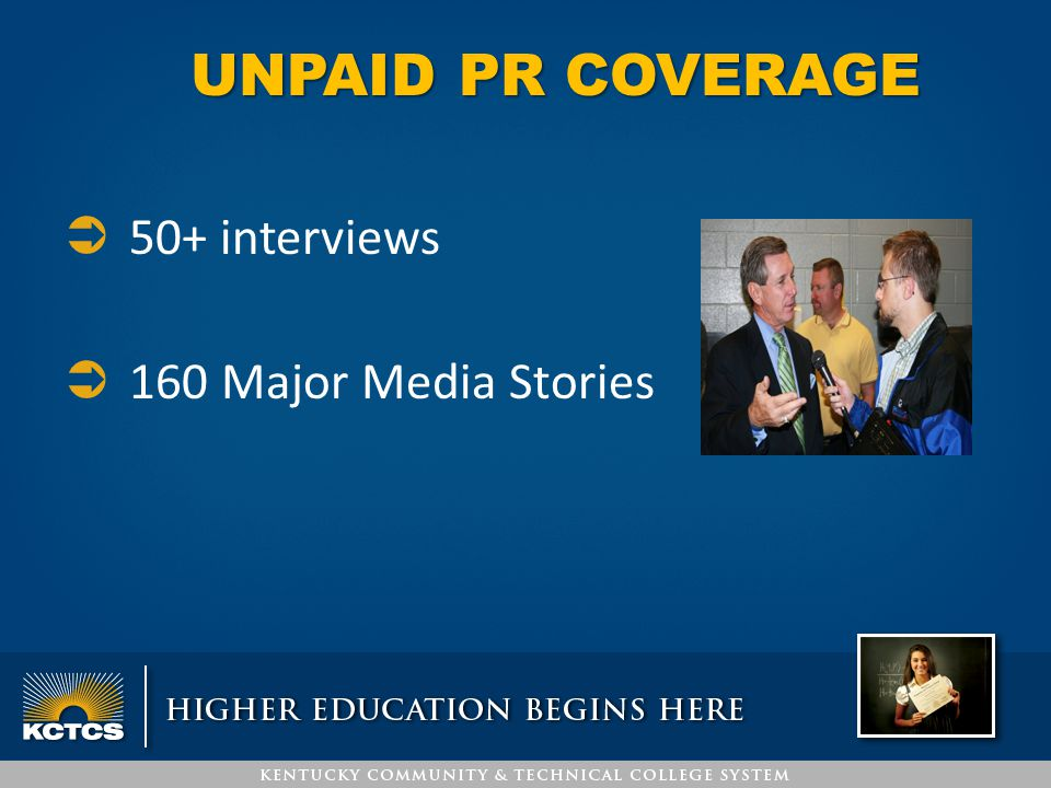 UNPAID PR COVERAGE  50+ interviews  160 Major Media Stories