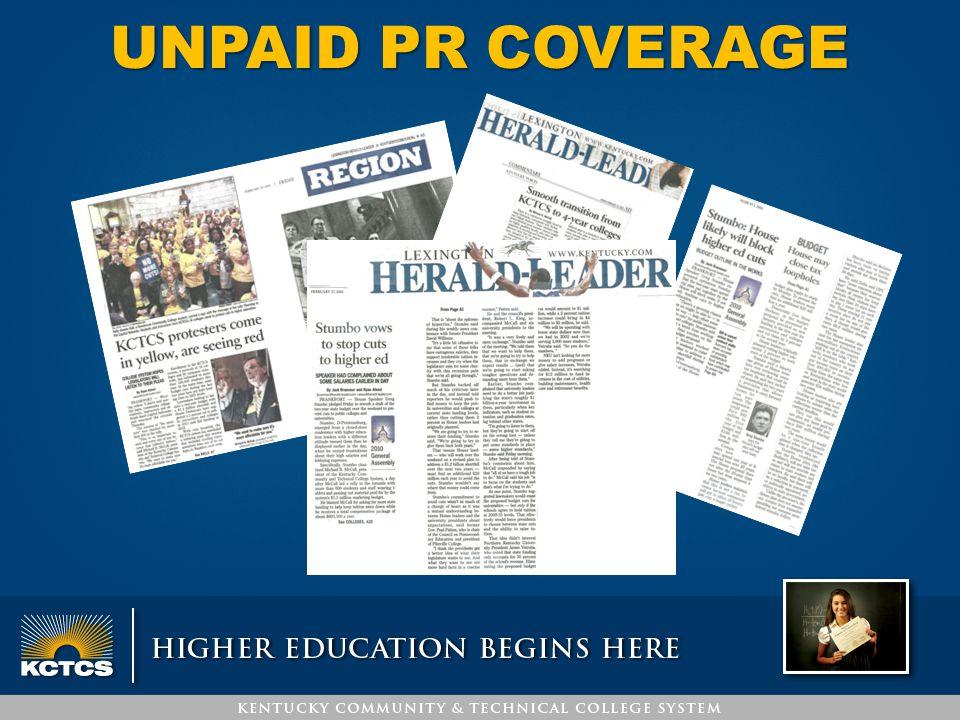 UNPAID PR COVERAGE