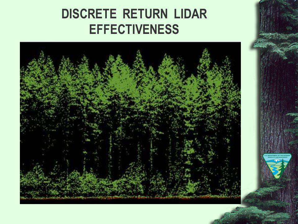 DISCRETE RETURN LIDAR EFFECTIVENESS