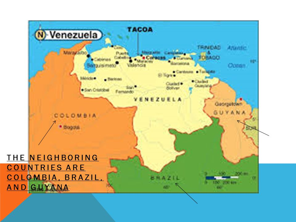 THE NEIGHBORING COUNTRIES ARE COLOMBIA, BRAZIL, AND GUYANA