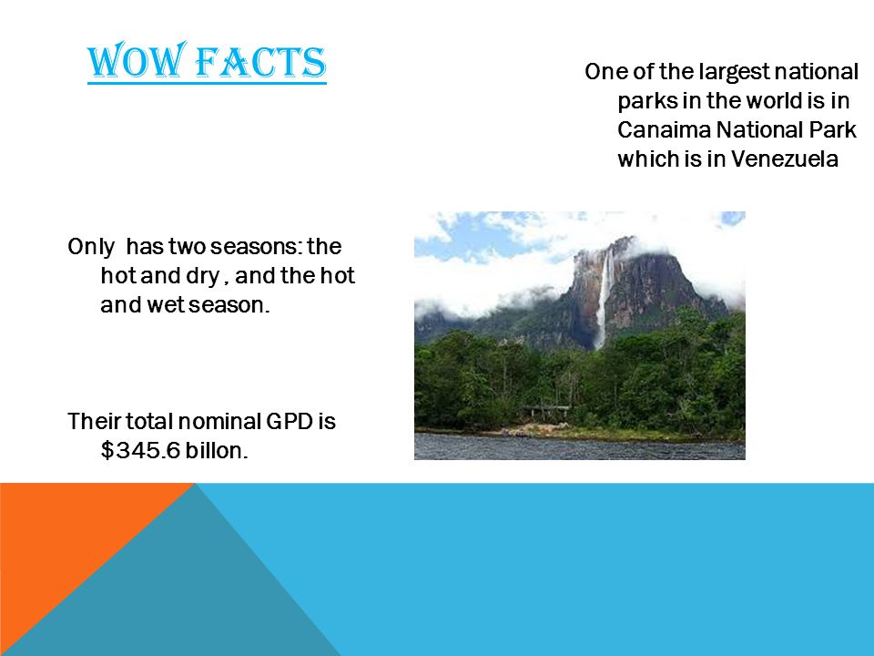 Only has two seasons: the hot and dry, and the hot and wet season.