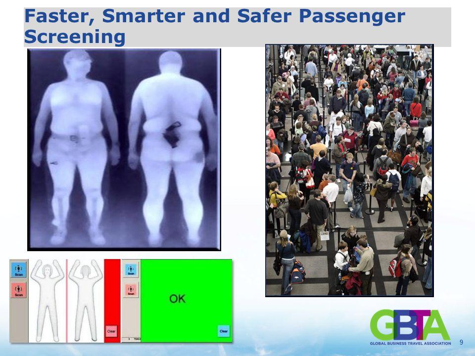 9 Faster, Smarter and Safer Passenger Screening