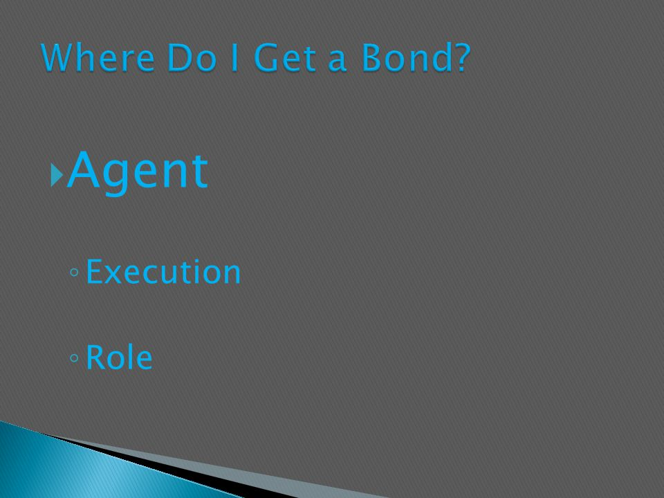  Agent ◦ Execution ◦ Role