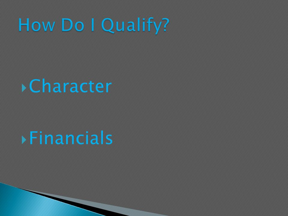  Character  Financials