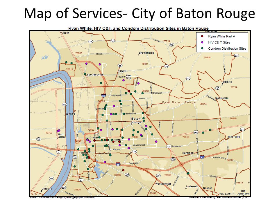 Map of Services- City of Baton Rouge