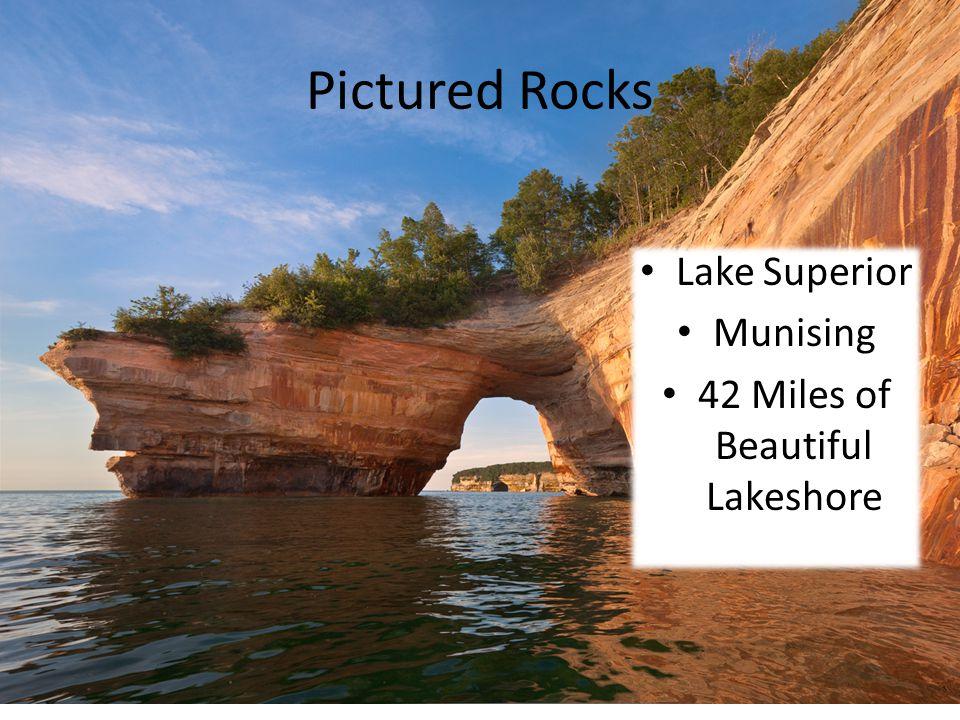 Pictured Rocks Lake Superior Munising 42 Miles of Beautiful Lakeshore