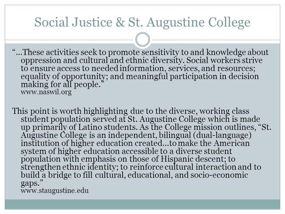Social Justice & St.