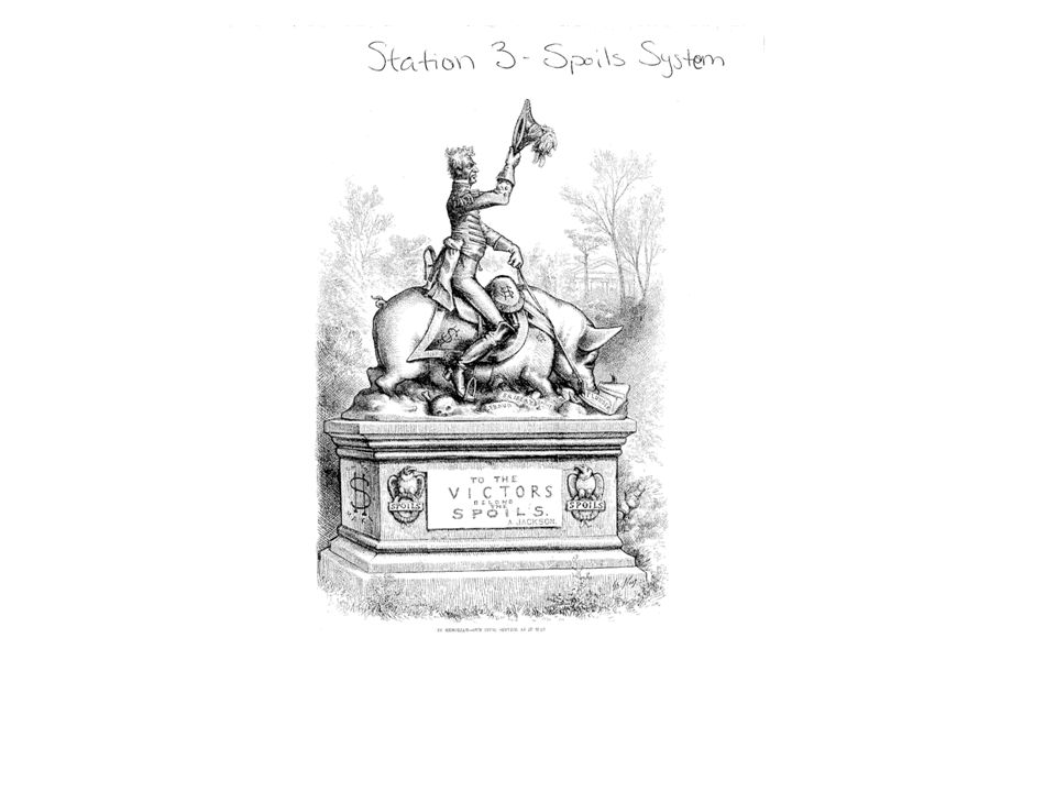 Station 3 - The Spoils System What was the Spoils System.